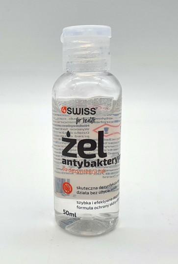 Żel do higienicznej dezynfekcji rąk 4Swiss 50ml