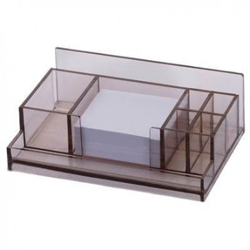 Przybornik na biurko Dual z bloczkiem papierowym