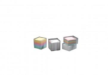 Pojemnik HAS -przybornik przezroczysty z wkładem papierowym 8,5 x 8,5 x 8,5