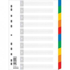 Przekładki A4 PP kolorowe Donau 10 kart