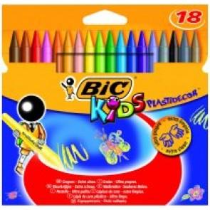 Kredki świecowe Plastidecor Bic Kids 18 kolorów
