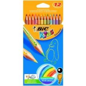 Kredki Ołówkowe Bic Kids Tropicolor 12 kolorów