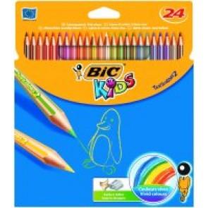Kredki Ołówkowe Bic Kids Tropicolor 24 kolory