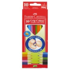 Trójkątne Kredki Jumbo Faber Castell 10 kolorów