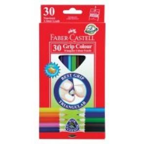 Trójkątne Kredki Jumbo Faber Castell 30  kolorów