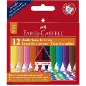 Kredki świecowe GRIP Faber-Castell 12 kolorów