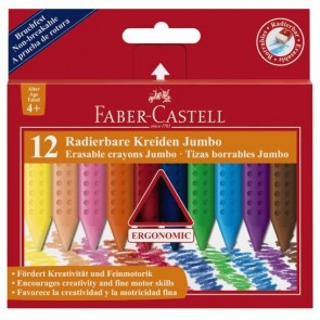Kredki świecowe GRIP Faber-Castell 12 kolorów JUMBO