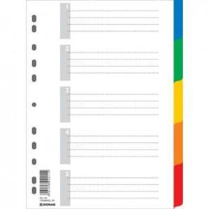 Przekładki A4 PP kolorowe Donau 5 kartek