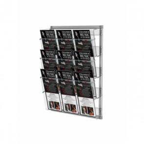 Prezenter na ulotki zestaw 3 kieszeni A4 poziomo na ścianę A4 i A5 DL art 212