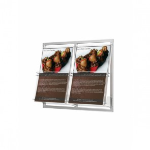 Prezenter ulotek na ramce do ściany 2 kieszenie A4 pionowo  Art.2332 V2