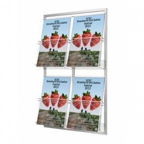 Modułowy zestaw 4 kieszeni A4 pionowo na ulotki A4 oraz DL pionowo Art.233 v3