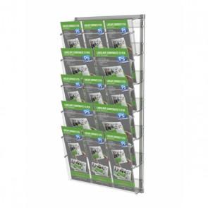 Prezenter / ekspozytor na ulotki zestaw 5 kieszeni A4 poziomo A4 z podziałem na A5 DL art 246