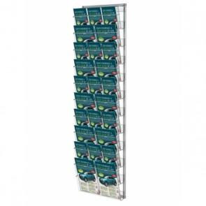 Prezenter / ekspozytor na ulotki zestaw 10 kieszeni A4 poziomo, A4 z podziałem A5 i DL art 247