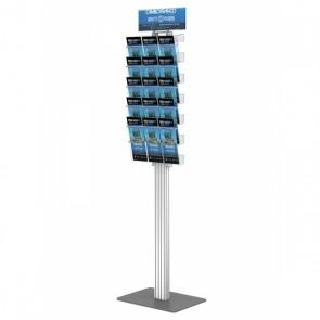 Składany stojak na ulotki + 5 kieszeni A4 poziomo art 273