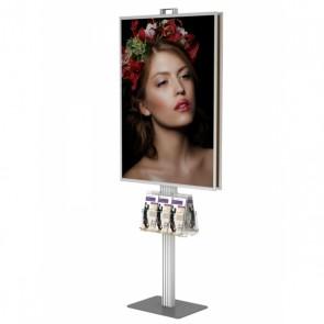 Składany stojak dwustronny / prezenter / stand na plakat 2x B1 na statywie + 2x kieszeń A4 uniwersalna na ulotki A4 A5 i DL  Art.512 V3