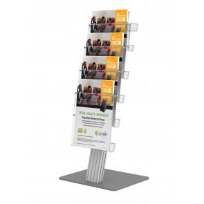 Stojak prezenter na biurko na ulotki 4 x A4 pionowo Art 833
