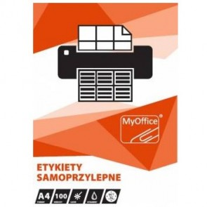 Etykiety uniwersalne samoprzylepne A4 Myoffice  - różne rozmiary