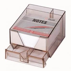 Przybornik na karteczki+ szuflada+ długopisy Dual