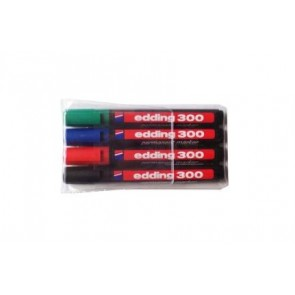 Marker permanentny Edding 300 komplet 4 kolorów