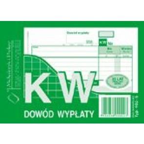 Druk KW - dowód wypłaty