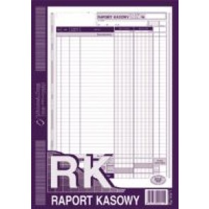Druk RK -raport kasowy