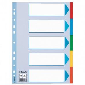 Przekładki kartonowe z kartą opisową Esselte A4 - 5 kart