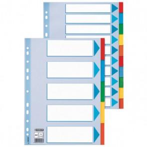 Przekładki kartonowe z kartą opisową Esselte A4 - 10 kart