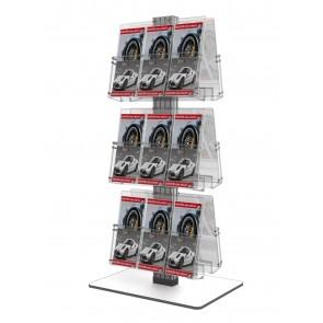 Stojak na ulotki - obrotowy 6 x A4 poziomo  Art 3083V biały