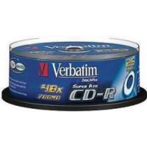 Płyty Verbatim 700mb pudełko typu cake 25 szt.
