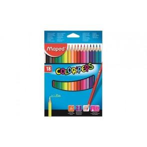 Kredki plastikowe Color ' Peps 18 kolorów