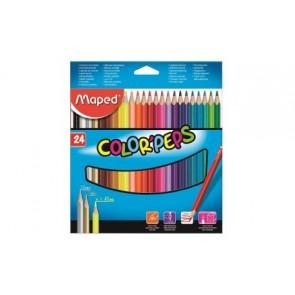 Kredki plastikowe Color ' Peps 24 kolory