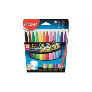 Flamastry trójkątne Color ' Peps 12 kolorów