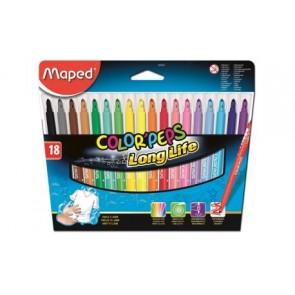 Flamastry trójkątne Color ' Peps 18 kolorów