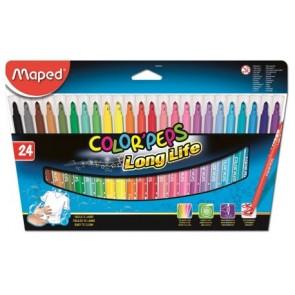 Flamastry trójkątne Color ' Peps 24 kolory