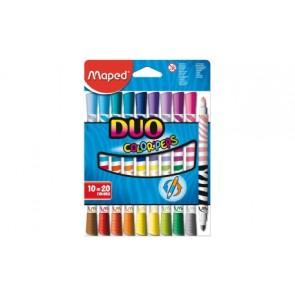 Flamastry dwustronne Color 'Peps Duo 10=20 kolorów