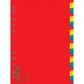 Przekładki A4 PP kolorowe Donau 1-5