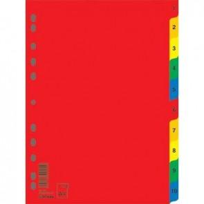 Przekładki A4 PP kolorowe Donau 1-10