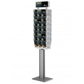 Dwustronny obrotowy stojak na ulotki 14xA4 poziomo Art 3084