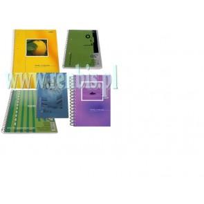 kołonotatnik w miękkiej oprawie a5/100 kartek interdruk