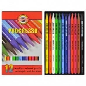 Koh-I-Noor kredki bezdrzewne Progresso 12 kolorów