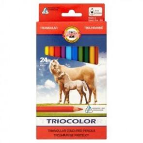Kredki Koh-I-Noor Tricolor trójboczne 24 kolory
