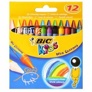 Kredki woskowe Wax Crayons Bic Kids 12 kolorów