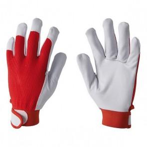 Rękawice monterskie z koziej skóry z rzepem