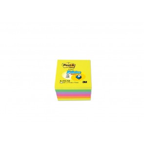 Bloczek samoprzylepny POST-IT Z-Notes 76x76mm 6sztuk po 100 kartek neon