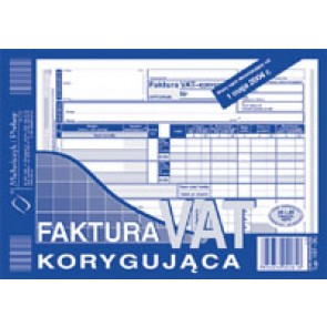 Druk faktura VAT korygująca netto