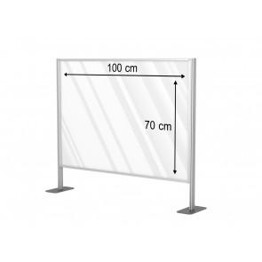 Aluminiowa przegroda formatu 100 x 70 cm. Art 031a