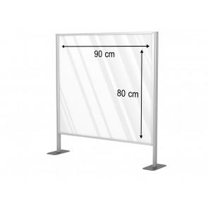 Aluminiowa przegroda formatu 90 x 80 cm. Art 031d