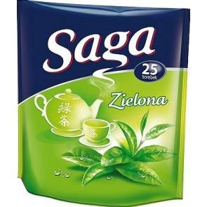 Herbata ekspresowa Saga Zielona  25 szt.