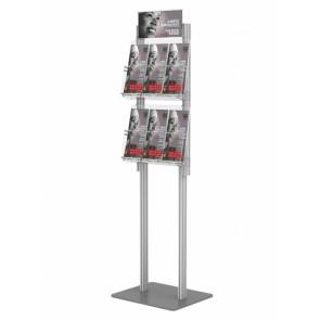 Składany stojak na ulotki 2 kieszenie A4 poziomo art 425