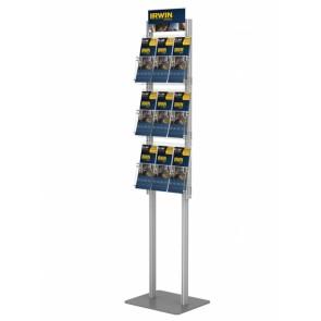 Składany stojak na ulotki 3 kieszenie A4 poziomo ( ulotki A4 A5 i DL ) art 427